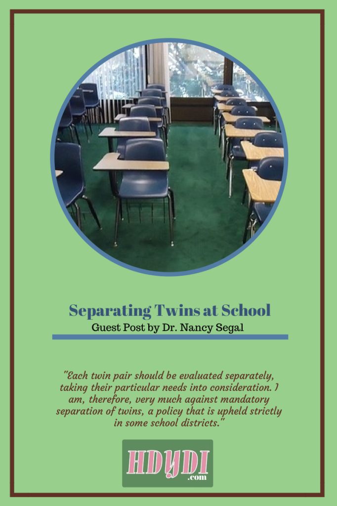 Separating Twins at School