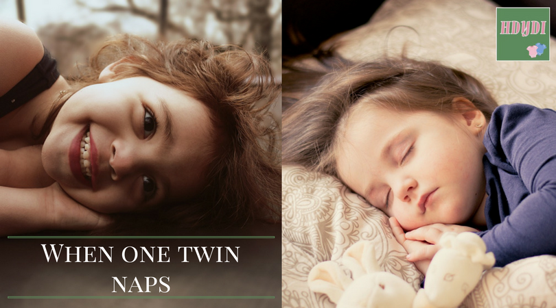 One twin napping and one ready to stay awake? How to cope, from an experienced mother.