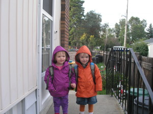 First day of Playschool - 2012 (age 3)