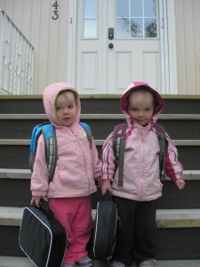 First day of Playschool - 2011 (age 2)