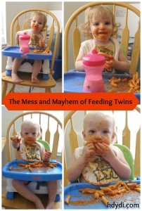 The Mess and Mayhem of Feeding Twins