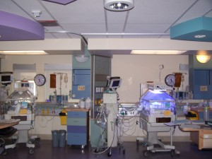 "Twins' NICU ""bedrooms"" for 3+ months."