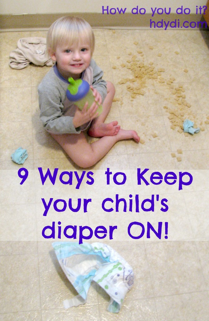 Twins Taking Off Their Diapers (for a year!) - How to stop a child from taking off their diapers at nap time.