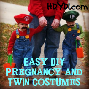 Easy DIY Twin and Pregnancy Costumes