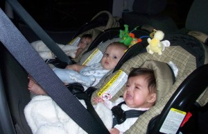 3 infants in a car: Grocery Shopping with Multiples from hdydi.com