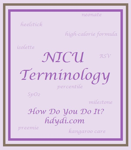 NICU terminology from hdydi.com