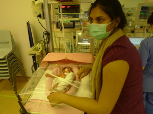 Rahul and I, day 4 or 5 in the NICU