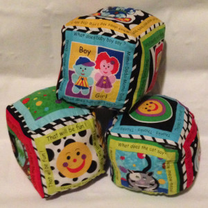A set of 3 soft blocks makes a great first block set!