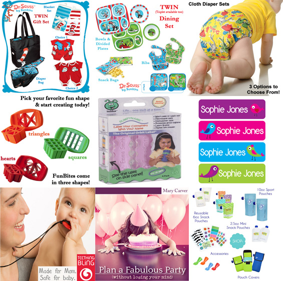 These items are for baby & kids to USE, but aren't toys. They're just things to make mom's life easier.