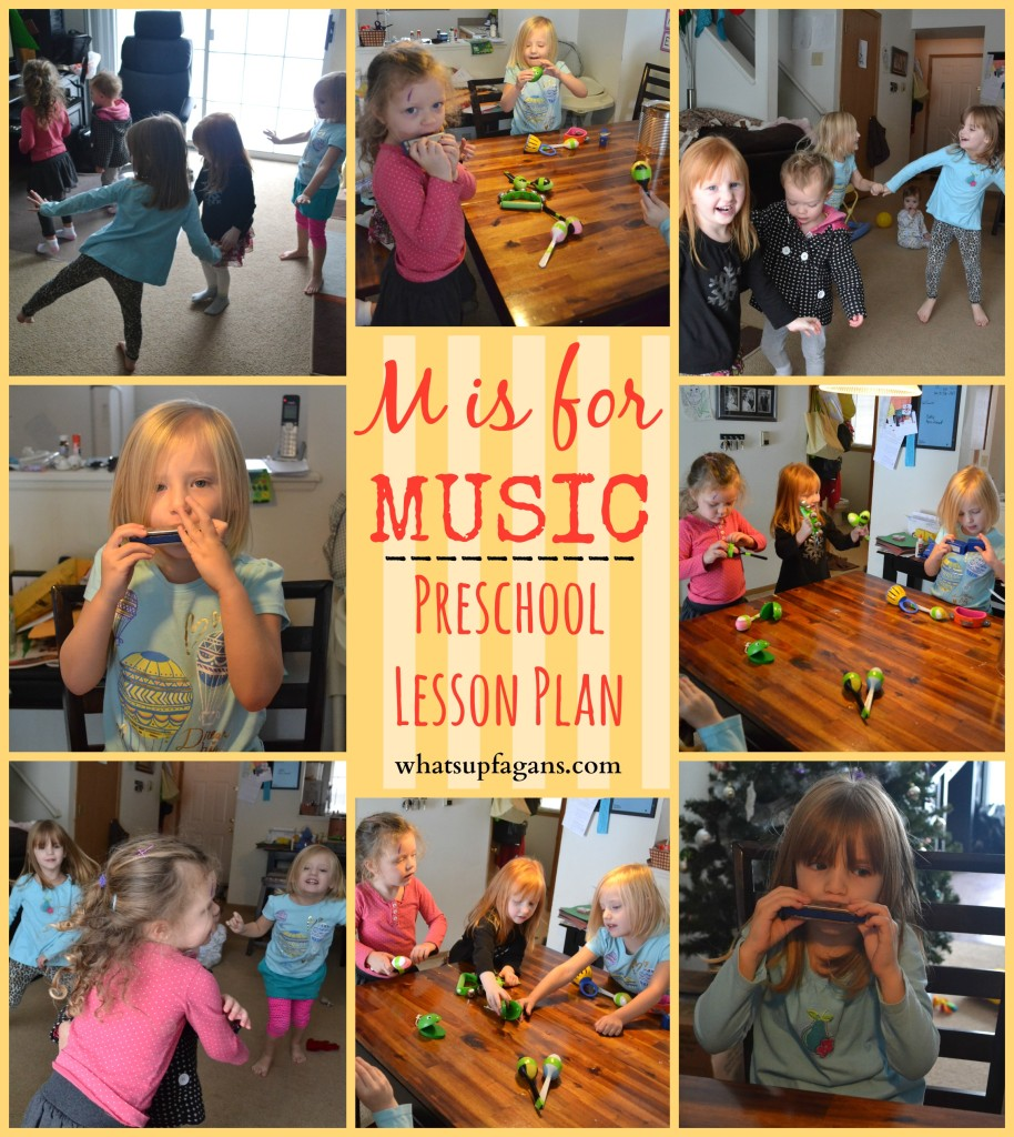 M is for Music - Preschool Lesson Plan