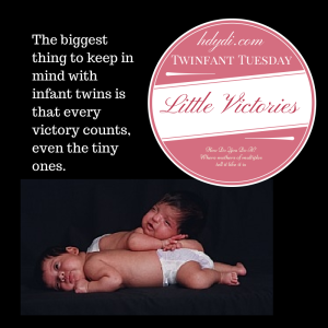 Twinfant Tuesday: Little Victories from hdydi.com