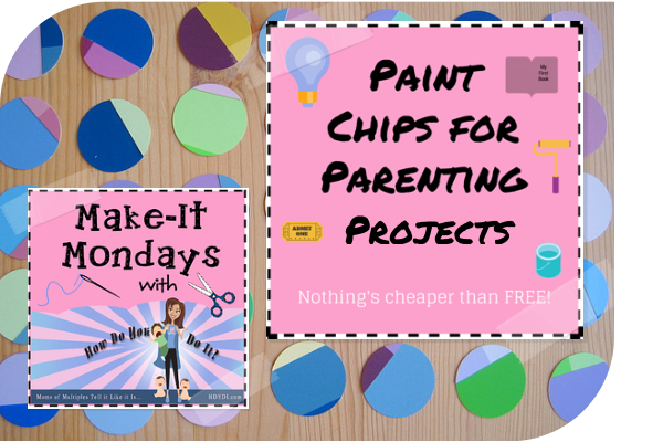Paint chips are a great FREE crafting resource. Ideas from hdydi.com