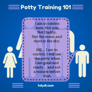 Potty Training 101 - According to a Toddler from hdydi.com
