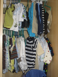 Hanging clothes can be a nice alternative to folding and stacking them. Photo Credit: katypearce