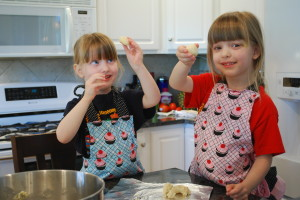 "Using parchment paper makes baking -- even with two eager ""helpers"" -- so much easier!"