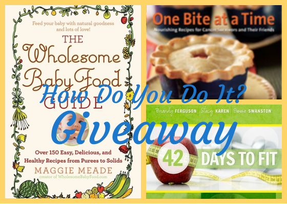 Win this package of fitness and food books for moms at hdydi.com