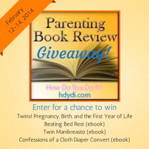 Enter the hdydi.com Parenting Book Giveaway Feb 12-14 2014 for a chance to win a package of books for expectant and new MoMs