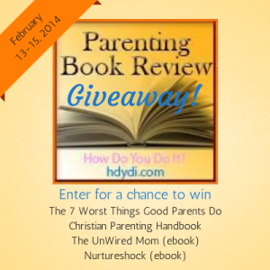 Enter the hdydi.com Parenting Book Giveaway Feb 10-12 2014 for a chance to win a package of great parenting books!