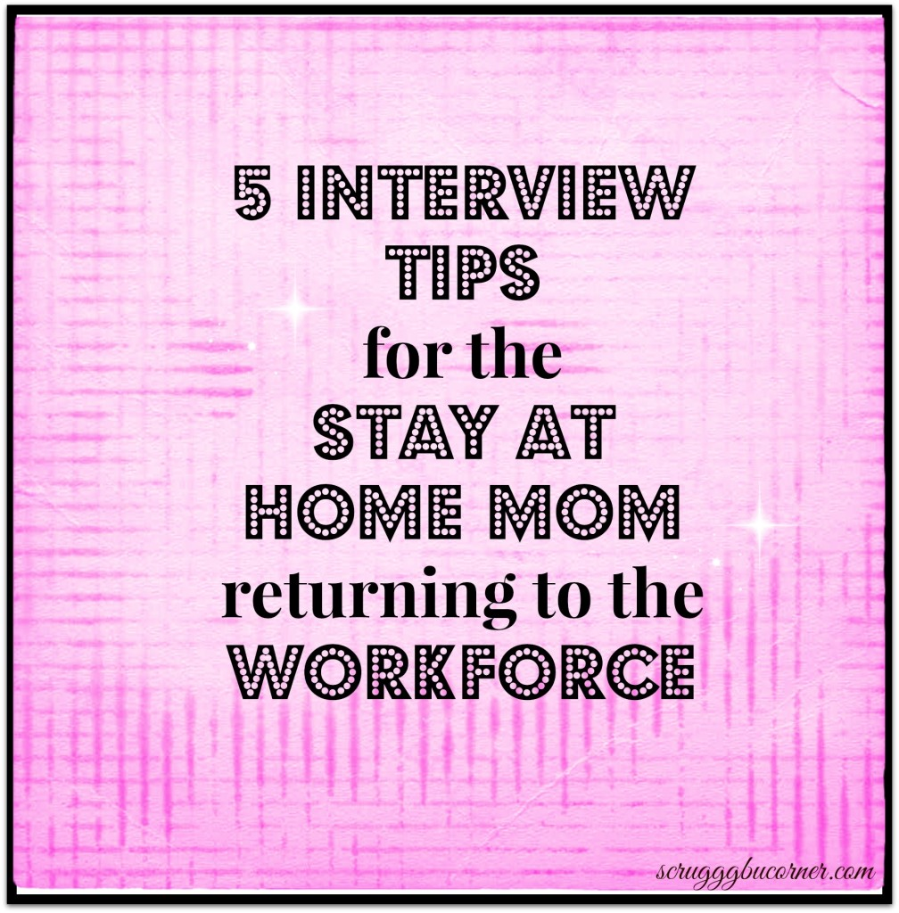5 TIps for SAHM for moms returning to work
