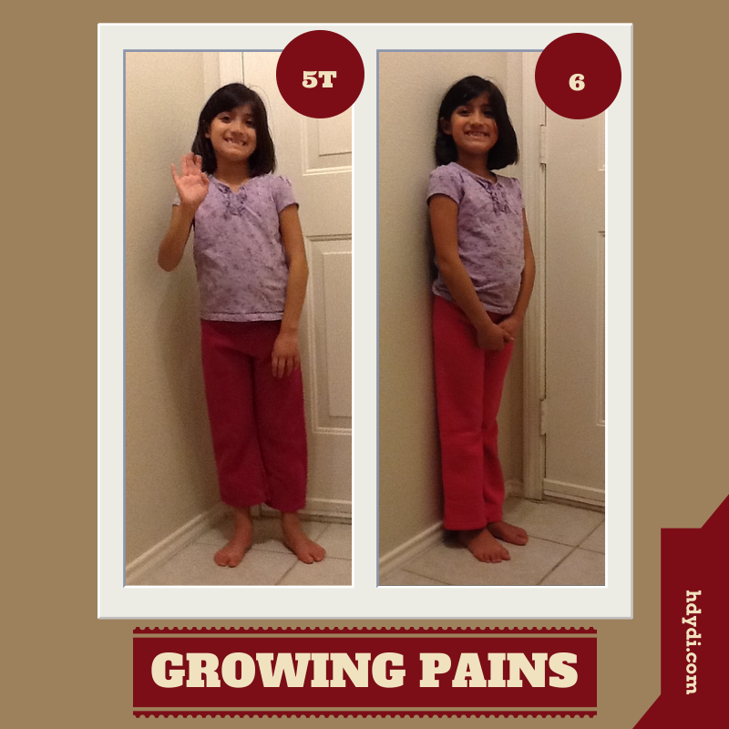A 7-year-old with a tendency to resist change isn't a fan of switching to a larger size of clothing