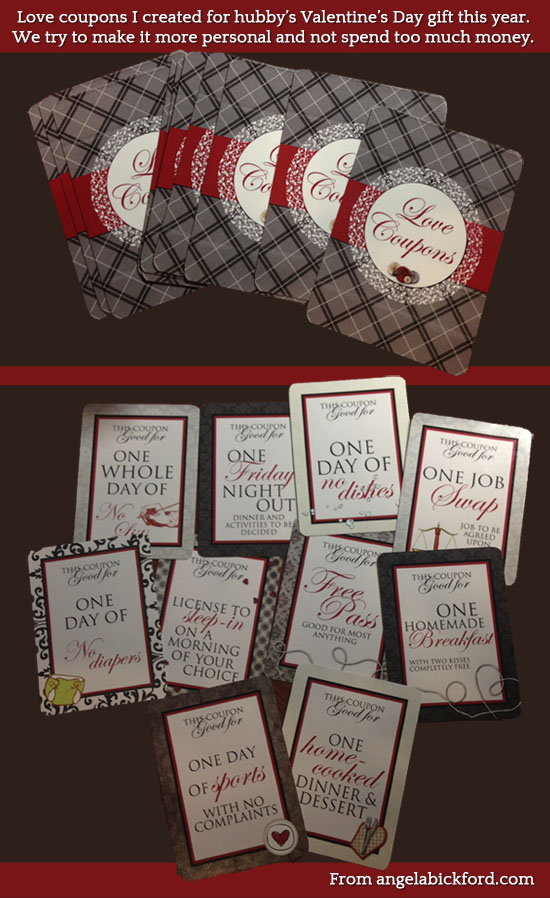 valentines gift love coupons
