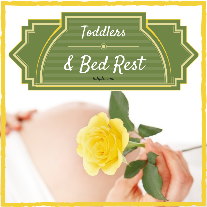 Some great ideas for spending time with your toddler while you're on bed rest