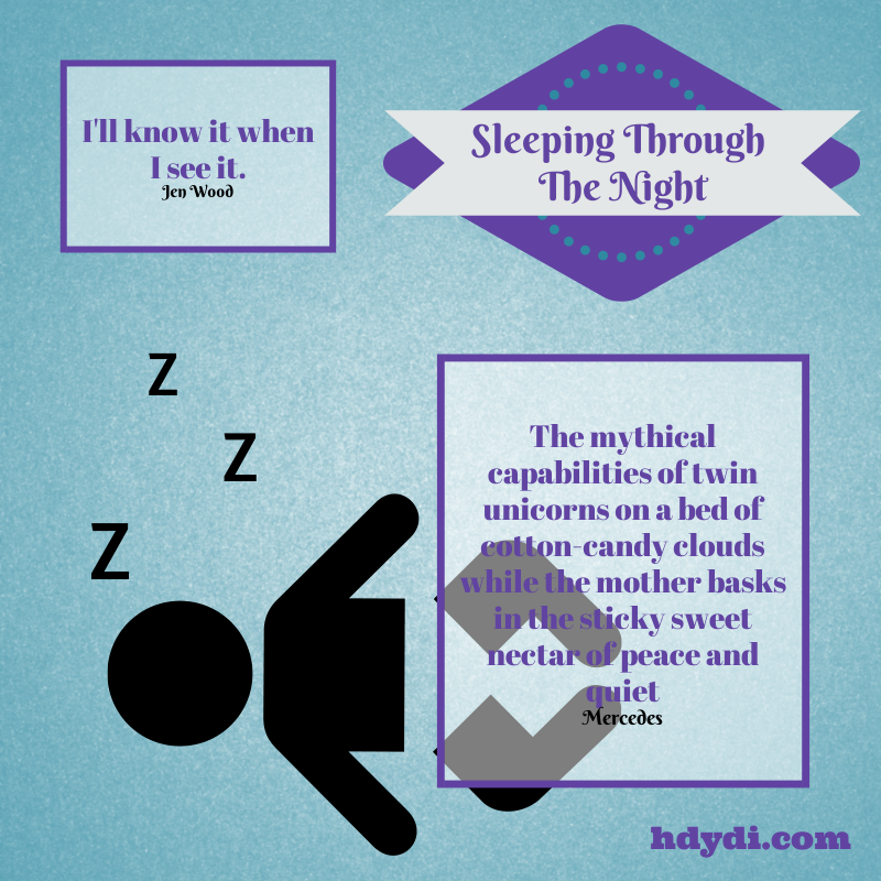 Sleeping through the night. A fallacy?