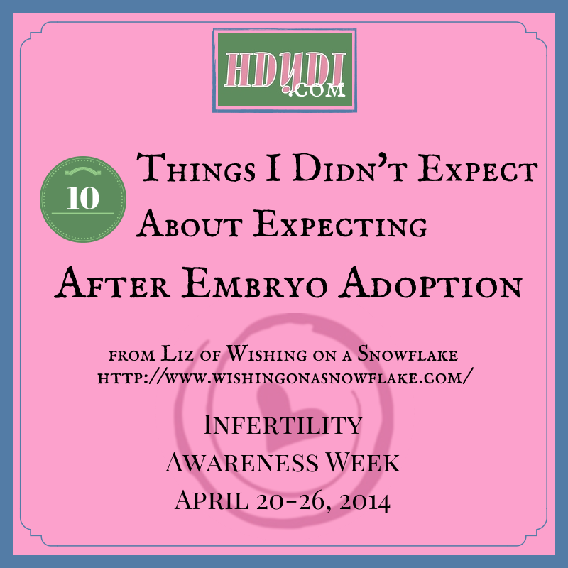 Pregnancy with embryo adoption has its own set of surprises.