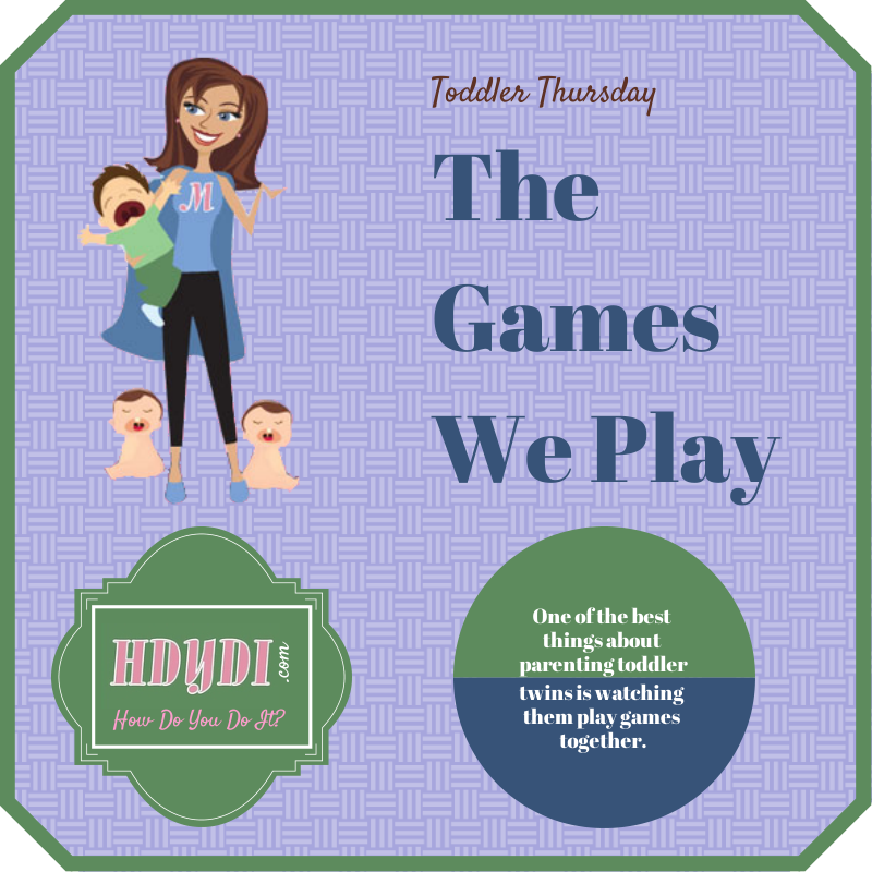 Toddler twins play the best games! Are your kids' favorites in the mix?