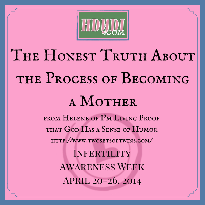 A humorous look at the nitty gritty of conception for the infertile mother-to-be.