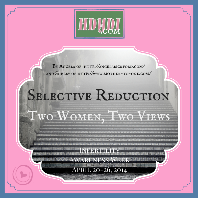 Selective reduction. Two women pregnant with 3 babies chose differently, and neither would have it any other way.