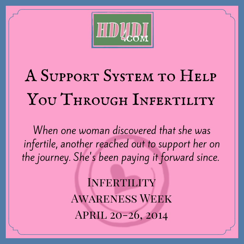 A support system to help you through infertility