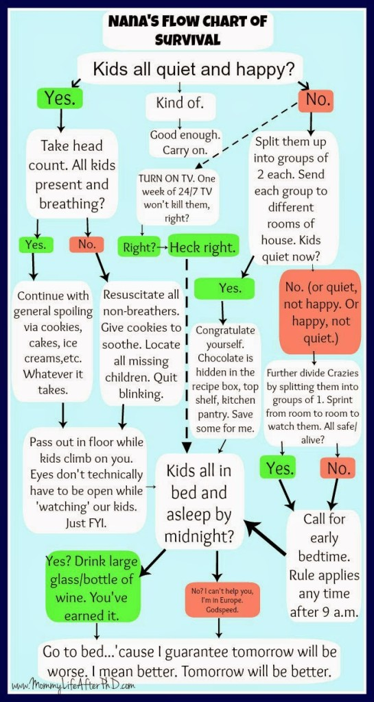 Guide for your childcare provider while you take a well-earned break!