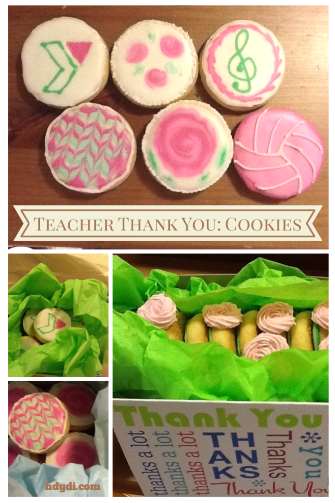 Teacher gift: Personalized cookies