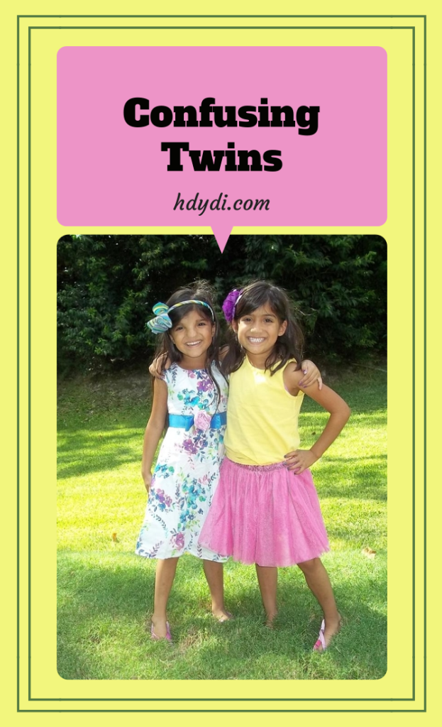 Sure, people confuse twins from time to time. But when the twins get themselves confused, it's truly befuddling.