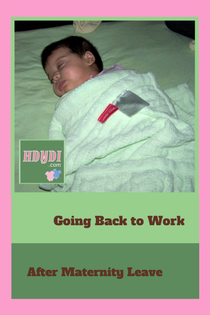 The end of maternity leave is hard, but returning to work can be well worth it. The younger the child, the easier it may be.