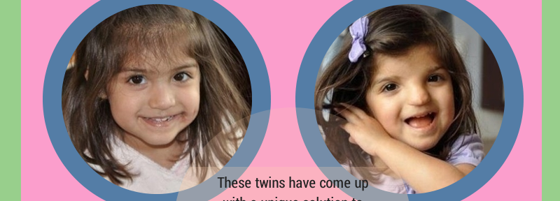 Twins don't get a birthday to call their own, but there's always something they can find to individualize it!