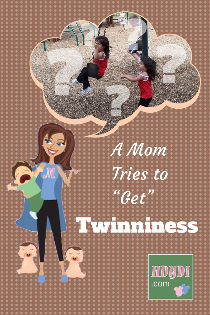 RebeccaD sees the twin relationship bloom between her toddlers, but can't fully understand it. She's not a twin.