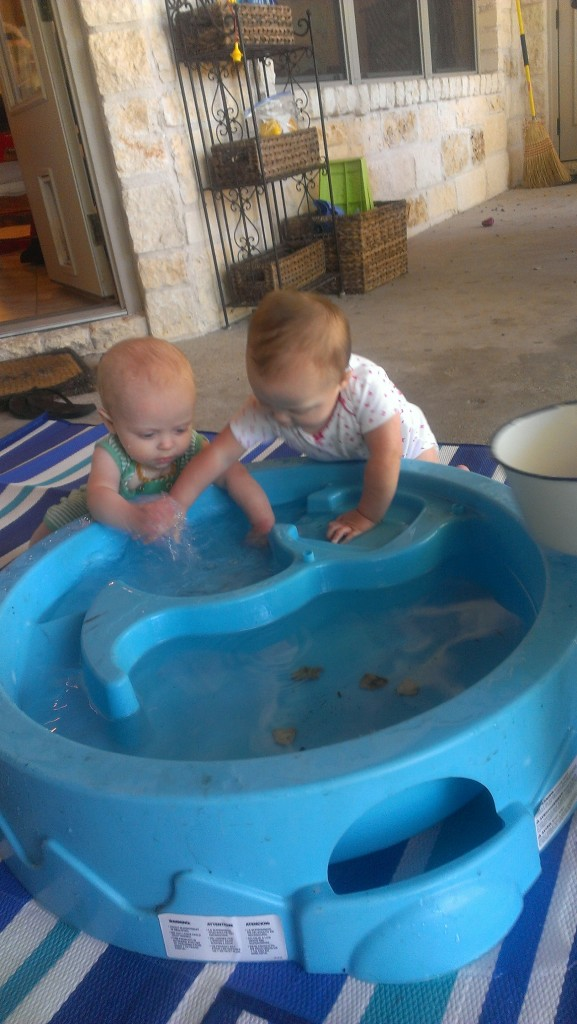 The babies love this water table. I removed the legs to make it safer.