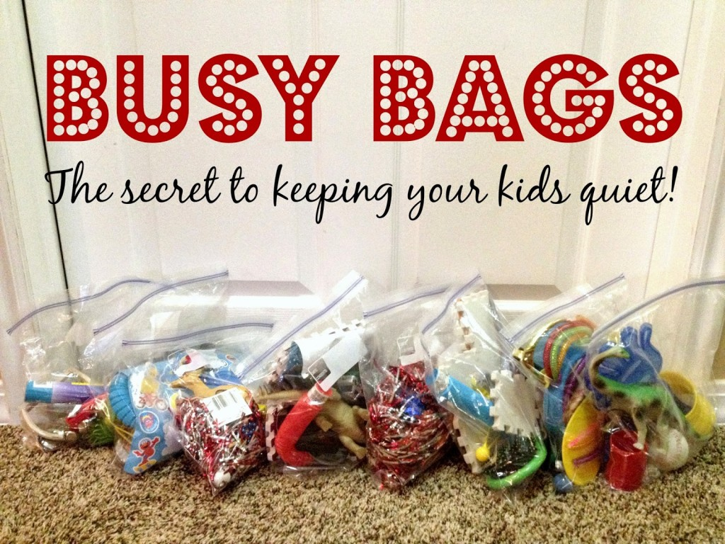 Busy bags are the secret to keeping your kids quiet for a while. From Lou Lou Girls.