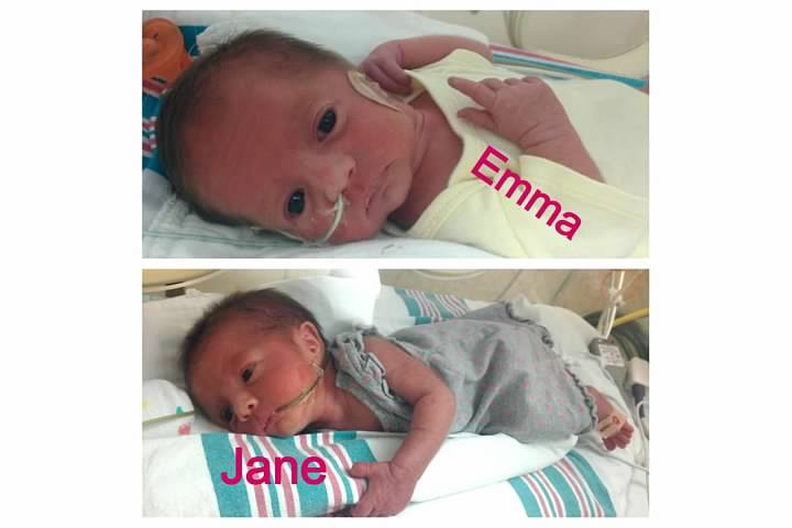 jane and emma NICU