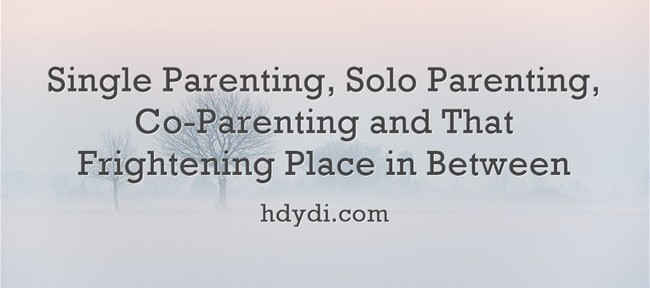 Single Parenting, Solo Parenting, Co-Parenting and That Frightening Place in Between