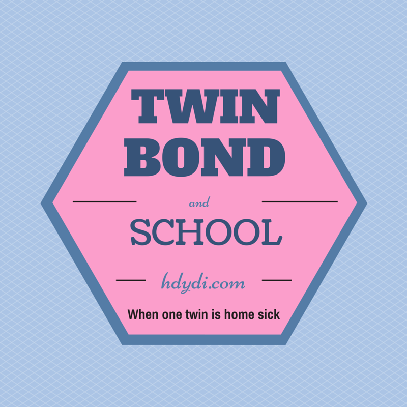 One twin starts to feel sick herself at the prospect of going to school while her sister stays home - and it's not for any lack of love for school! - How Do You Do It?