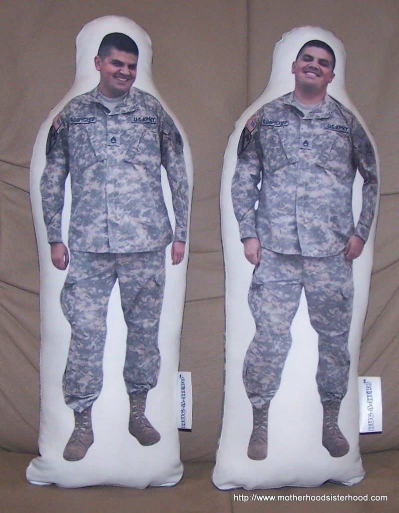 Daddy dolls give the military child something to hold onto while a parent is deployed.