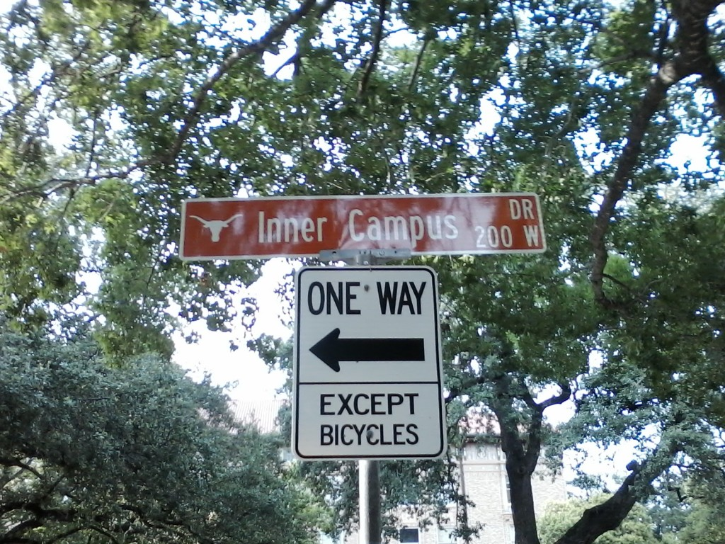 UT Austin street sign. Why not take your little ones on an adventure to your closest university campus.