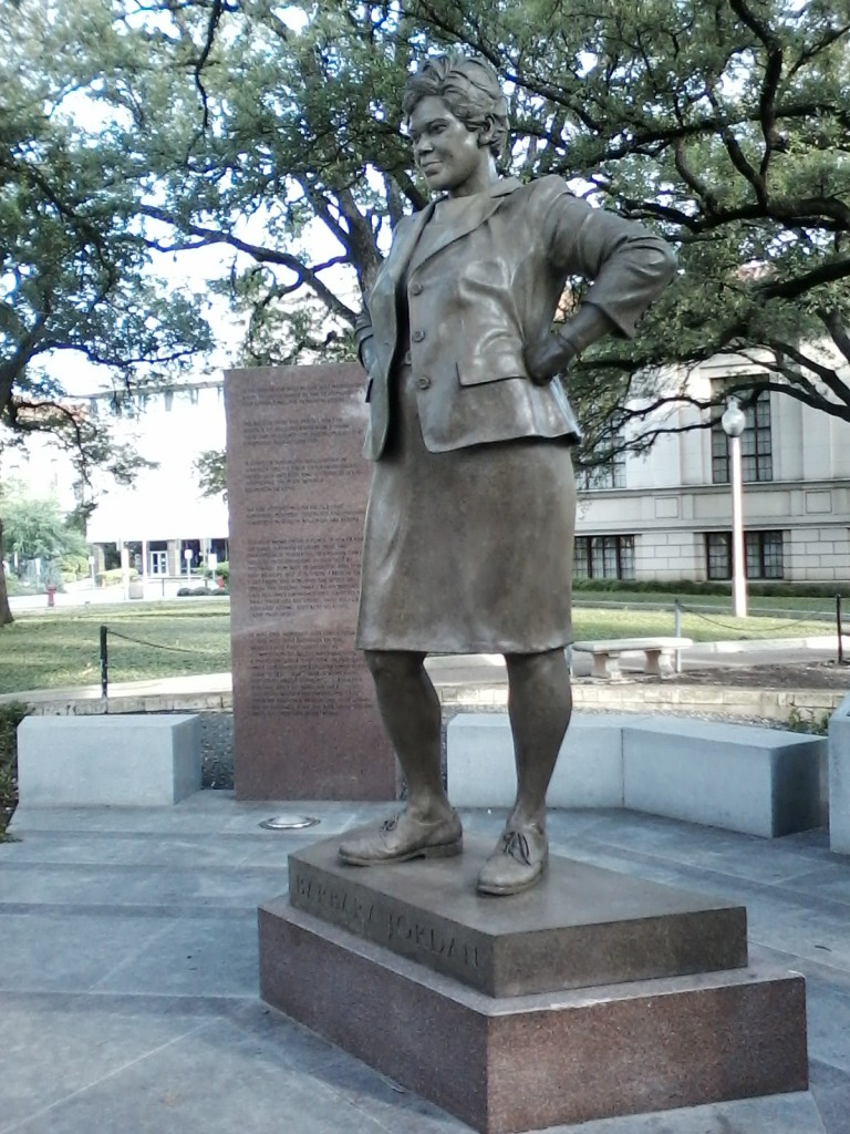 Barbara Jordan statue at UT Austin.