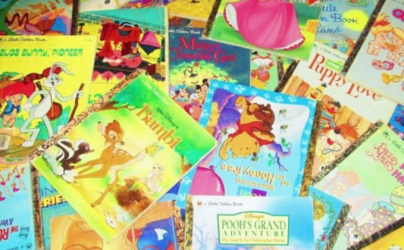 Children's books based on films, such as the Little Golden Books, can help overcome a child's reluctance to read independently.