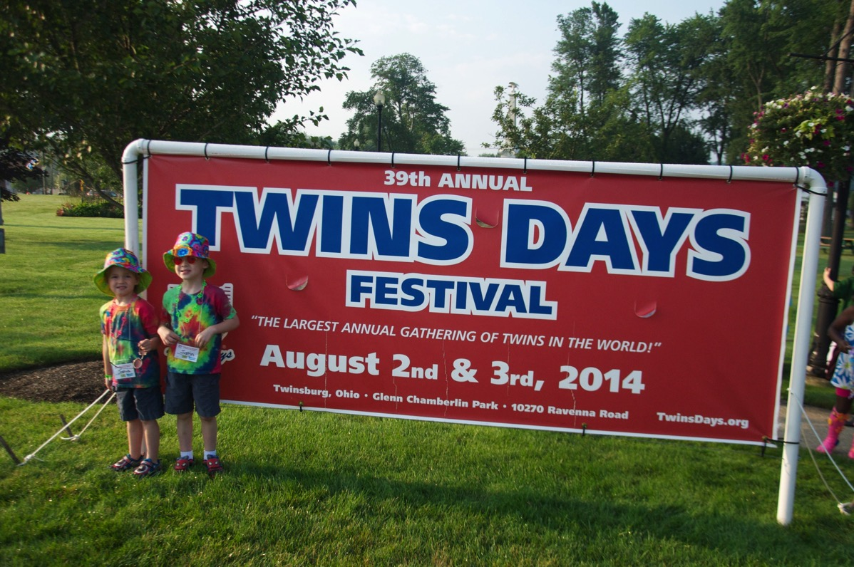 Twins Days Festival Twinsburg, OH. 2015 will be its 40th year.