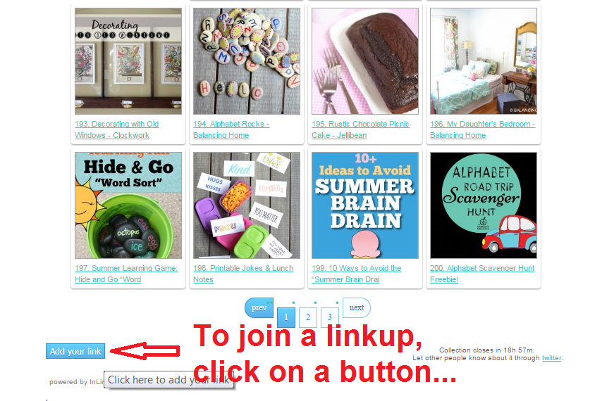 Joining a linky (aka blog hop or link up) is easy! Linky 101