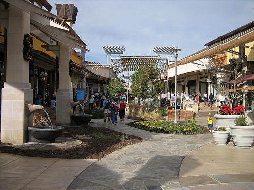Getting stir crazy with a new baby? Go people watching at an outdoor mall.